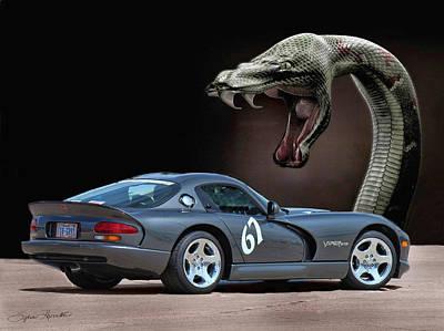 2002 Dodge Viper Art Print by Sylvia Thornton
