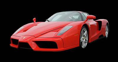 2002 Enzo Ferrari 400 Print by Jack Pumphrey