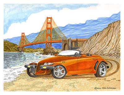 Painting - 2002 Plymouth Prowler by Jack Pumphrey