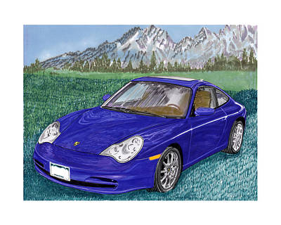 Painting - 2002 Porsche 996 by Jack Pumphrey