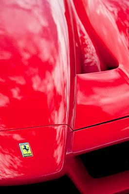 Photograph - 2003 Ferrari Enzo Hood Emblem by Jill Reger