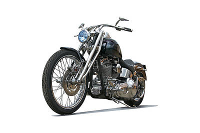Farm House Style - 2003 H.D. Softail Custom 6 by Dave Koontz