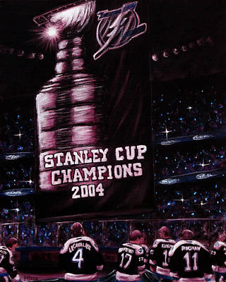 Nhl Painting - 2004 Champs by Marlon Huynh