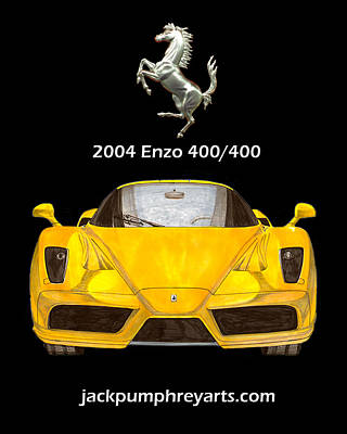 Painting - 2004 Ferrari Enzo 400  400 by Jack Pumphrey