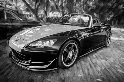 Highspeed Photograph - 2004 Honda S2000 Roadster Painted Bw  by Rich Franco