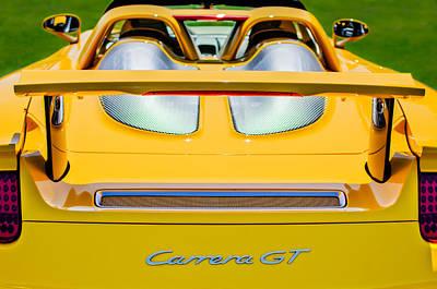 Photograph - 2004 Porsche Carrera Gt Rear Emblem - 1 by Jill Reger