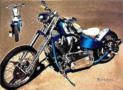 Photograph - 2005 Custom Harley by Sadie Reneau