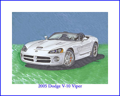 Painting - 2005 Dodge V-10 Viper by Jack Pumphrey