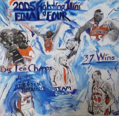 Deron Painting - 2005 Fighting Illini Basketball by John Sabey Jr