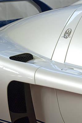 Car Emblem Photograph - 2005 Maserati Mc12 Emblem by Jill Reger