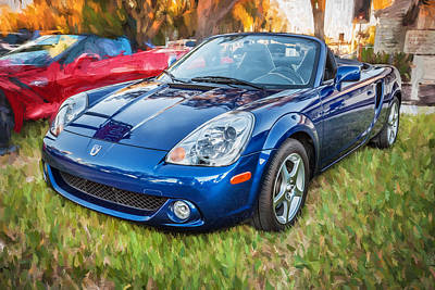 2005 Toyota Mr2 Sports Car Painted Bw  Print by Rich Franco