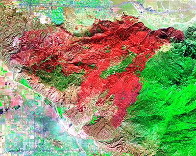 Infra-red Photograph - 2006 Californian Forest Fire by Nasa/gsfc/aster Science Team/science Photo Library