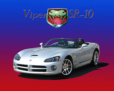 Photograph - 2006 Viper S R 10 by Jack Pumphrey