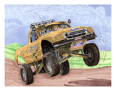 Painting - 2007 Ford F-150 Off Road Racing  by Jack Pumphrey