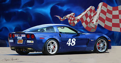 2007 Z06 Corvette Art Print by Sylvia Thornton
