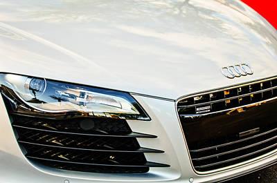 Photograph - 2008 Audi Hood Emblem -0440c by Jill Reger