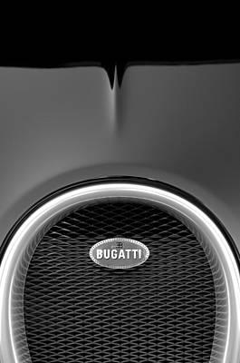 Photograph - 2008 Bugatti Veyron Grille Emblem 3 by Jill Reger