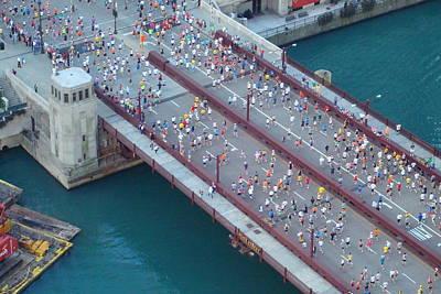 2008 Chicago Marathon Art Print by Kay Gilley