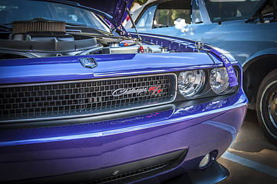 Purple V8 Photograph - 2008 Dodge Challenger Rt by Rich Franco