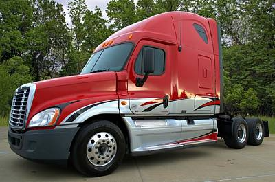 Photograph - 2008 Freightliner Cascadia Semi Truck by Tim McCullough