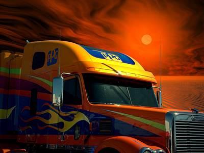 2008 Freightliner Coronado Ppg Semi Truck Art Print
