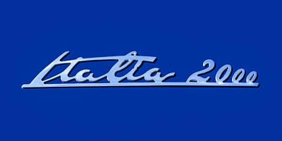 2008 Photograph - 2008 Maserati Gran Turismo Emblem - Italia 2000 Emblem by Jill Reger