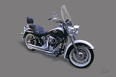 2009 Harley Davidson Softail Deluxe Art Print