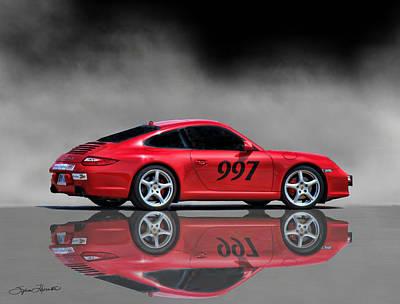 2009 Porsche Carrera Art Print by Sylvia Thornton