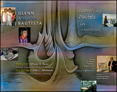 Digital Art - 2009 Weatherford Pastels Book Cover by Glenn Bautista