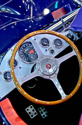 Photograph - 2010 Allard J2x Mk II Commemorative Edition Steering Wheel by Jill Reger