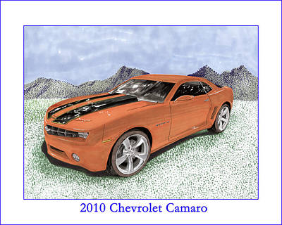 Painting - 2010 Chevrolet Camaro by Jack Pumphrey