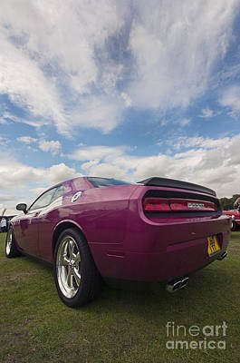 Purple V8 Photograph - 2010 Dodge Challenger by Kris Shaw