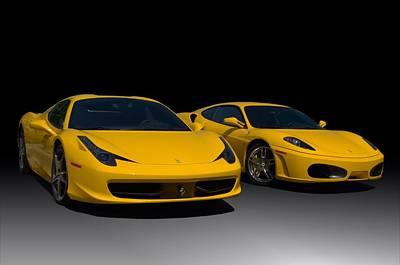 Photograph - 2010 Ferrari And 2006 Ferrari by Tim McCullough