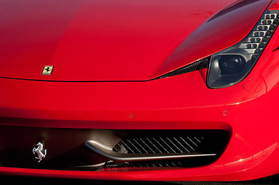 2010 Wall Art - Photograph - 2010 Ferrari Grille Emblem -0468c by Jill Reger