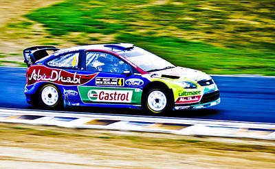 2010 Ford Focus Wrc Print by motography aka Phil Clark