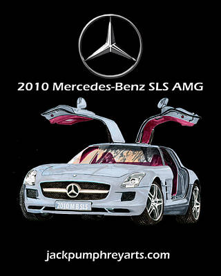 Painting - 2010 Mercedes Benz S L S    A M G by Jack Pumphrey