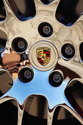 2010 Porsche Panamera Turbo Wheel Art Print by Jill Reger