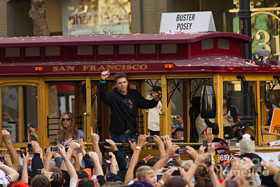 Photograph - 2010 World Series Champions San Francisco Giants Parade Buster Posey 7d3129 by Wingsdomain Art and Photography