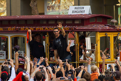 Photograph - 2010 World Series Champions San Francisco Giants Parade Madison Bumgarner 7d3078 by Wingsdomain Art and Photography