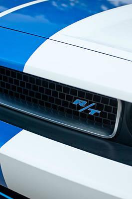 2011 Dodge Challenger Rt Grille Emblem Art Print by Jill Reger