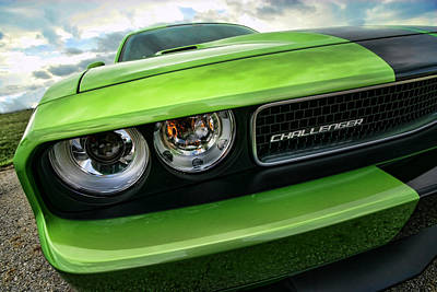 2011 Dodge Challenger Srt8 Green With Envy Art Print by Gordon Dean II