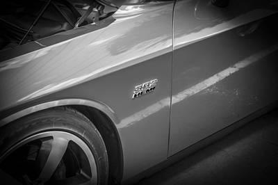 Photograph - 2011 Dodge Challenger Srt8 Hemi Bw  by Rich Franco