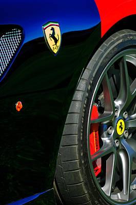 Photograph - 2011 Ferrari 599 Gto Emblem - Wheel -0378c by Jill Reger