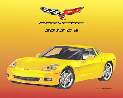 Painting - 2012 C 6 Corvette by Jack Pumphrey
