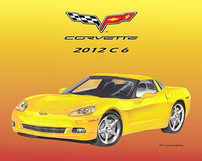 0 Painting - 2012 C 6 Corvette by Jack Pumphrey