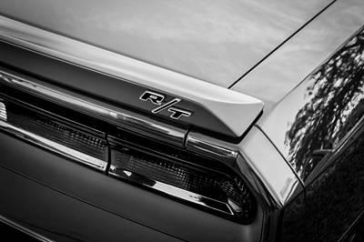 2012 Dodge Challenger Rt Hemi Bw   Art Print