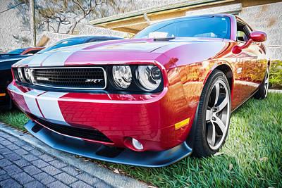 2012 Dodge Challenger Srt8 Hemi Painted  Art Print by Rich Franco