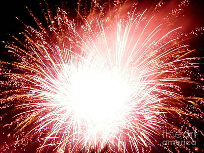 Art Print featuring the digital art 2012 Fireworks by Angelia Hodges Clay