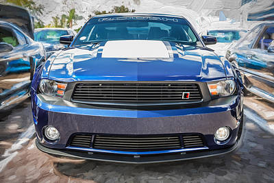 Photograph - 2012 Ford Shelby Mustang Roush Stage 3 Painted  by Rich Franco