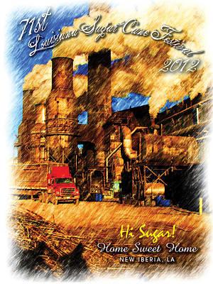 2012 Louisiana Sugarcane Festival Poster Art Print